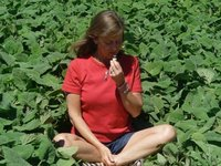Amy Bacheller with plants