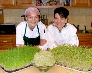 Meagan and Mary with Sprouts