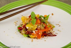 Green Papaya Rainbow Salad