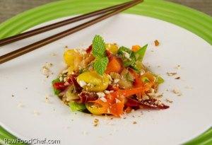 Green Papaya Rainbow Salad